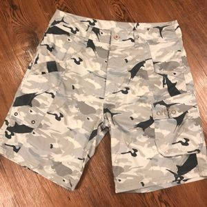 Aftco Shorts - Aftco camo tactitical fishing shorts